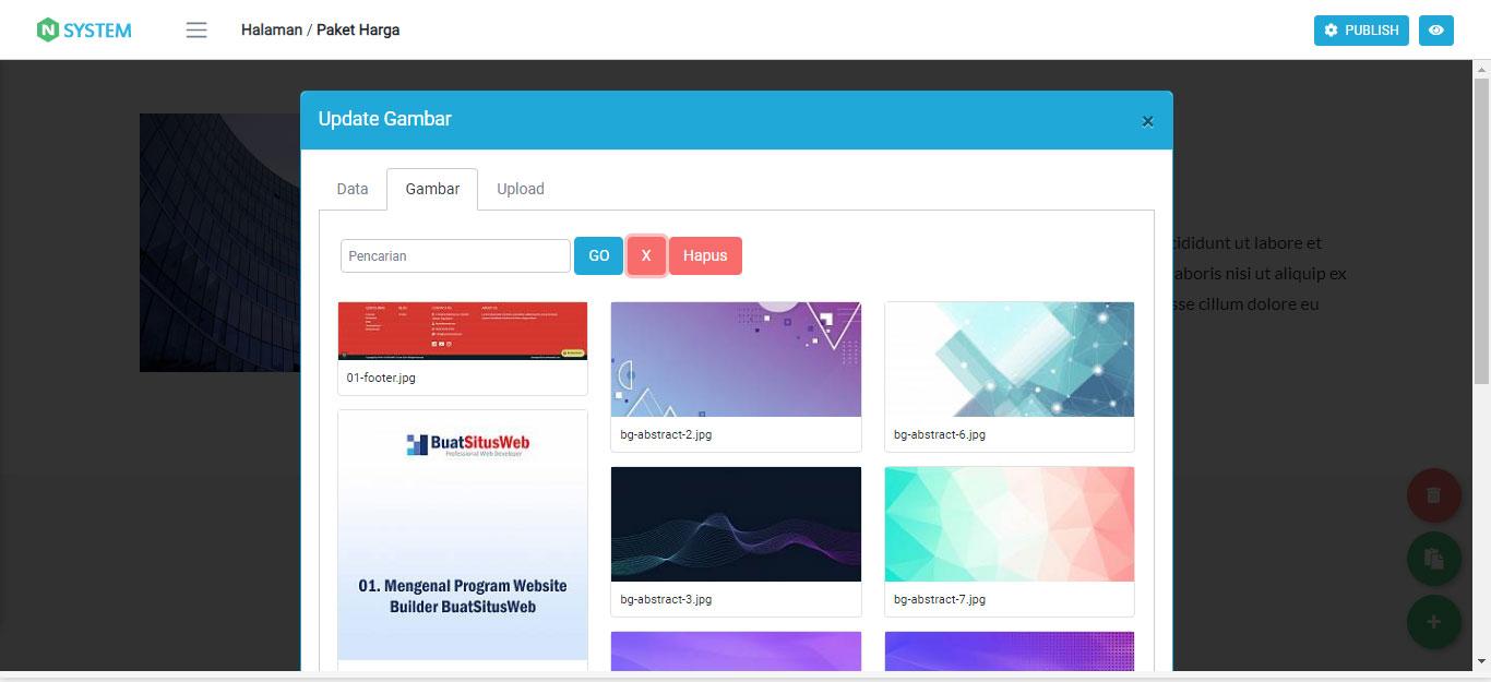 Mengganti Gambar pada Komponen Website