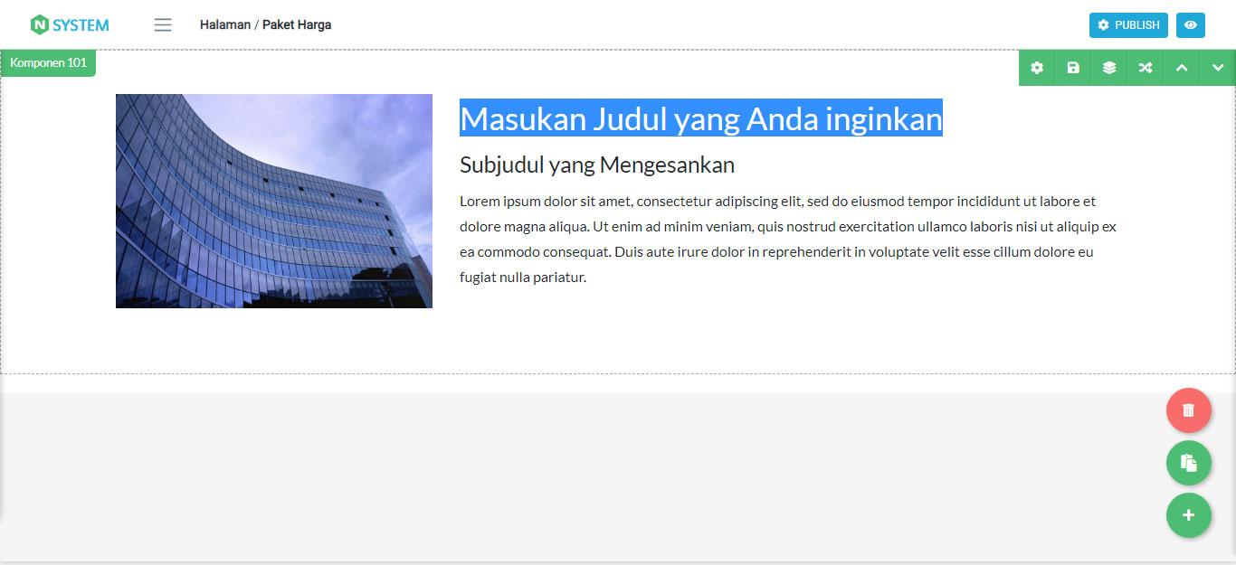 Mengganti Tulisan pada Komponen Website